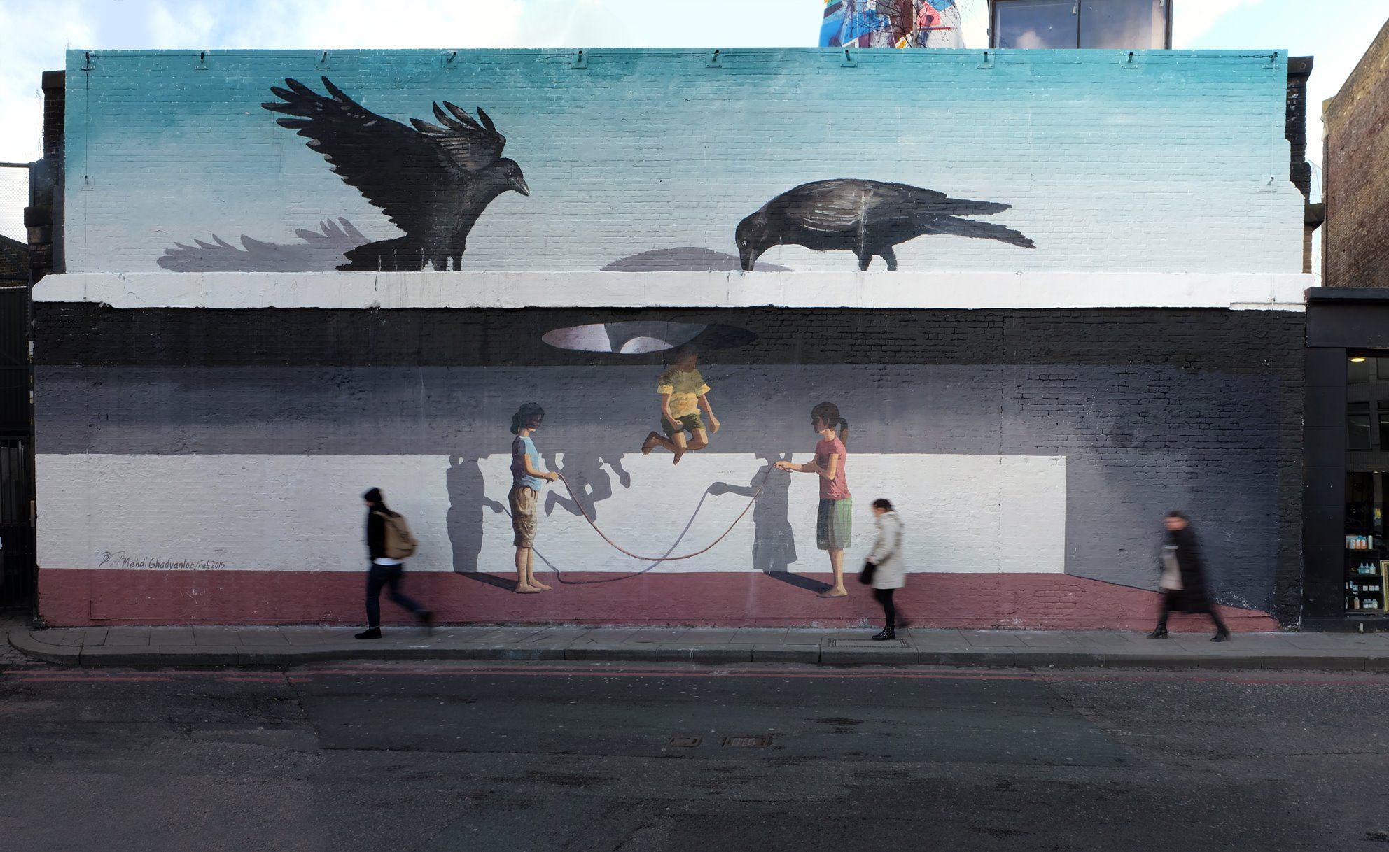 mehdi ghadyanloo street art optical illusion 0