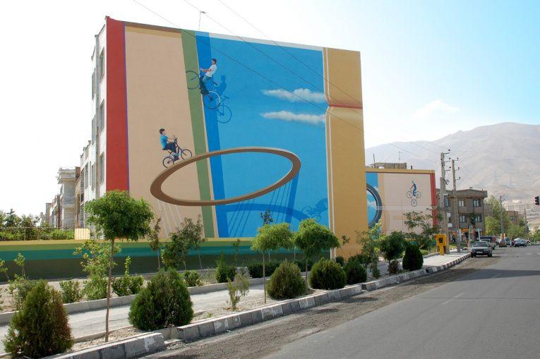 mehdi ghadyanloo street art optical illusion 15