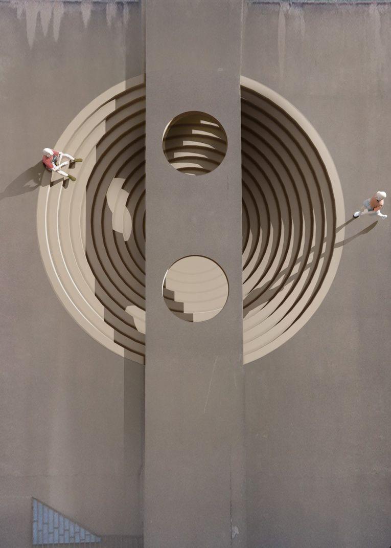 mehdi ghadyanloo street art optical illusion 2