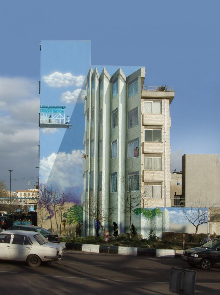 mehdi ghadyanloo street art optical illusion 6