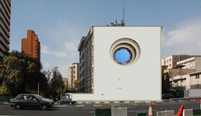 mehdi ghadyanloo street art optical illusion 8