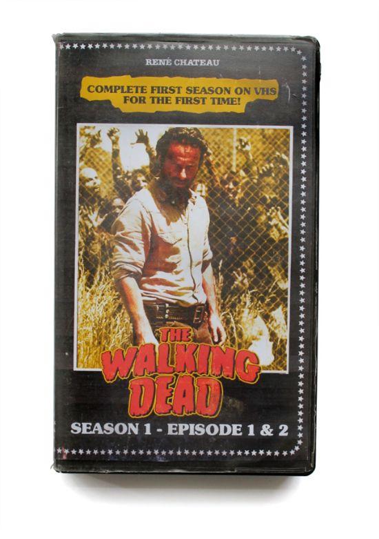the walking dead vhs oldskull