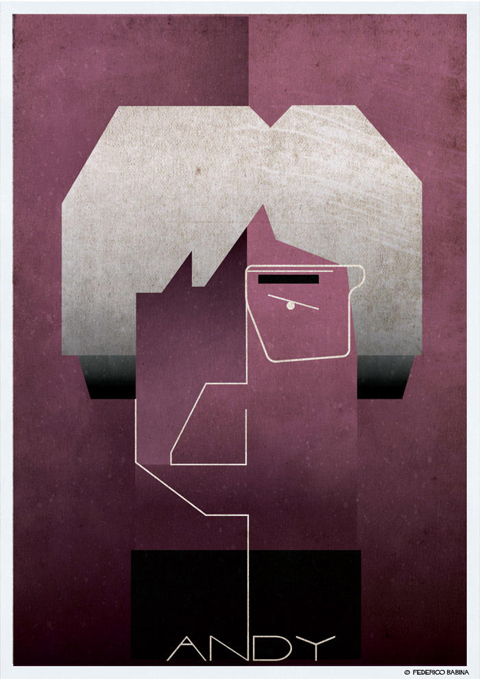 andy warhol cubist illustration