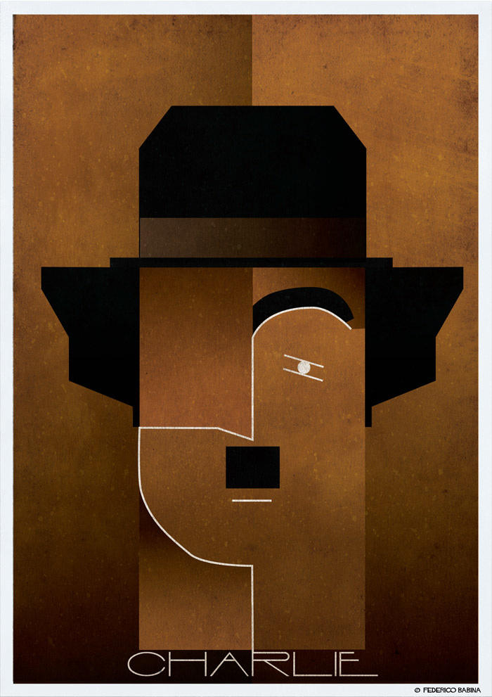 chaplin cubist illustration