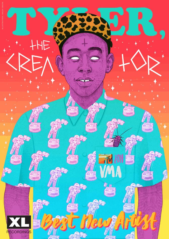 Tyler-the-Creator-illustration-hele green