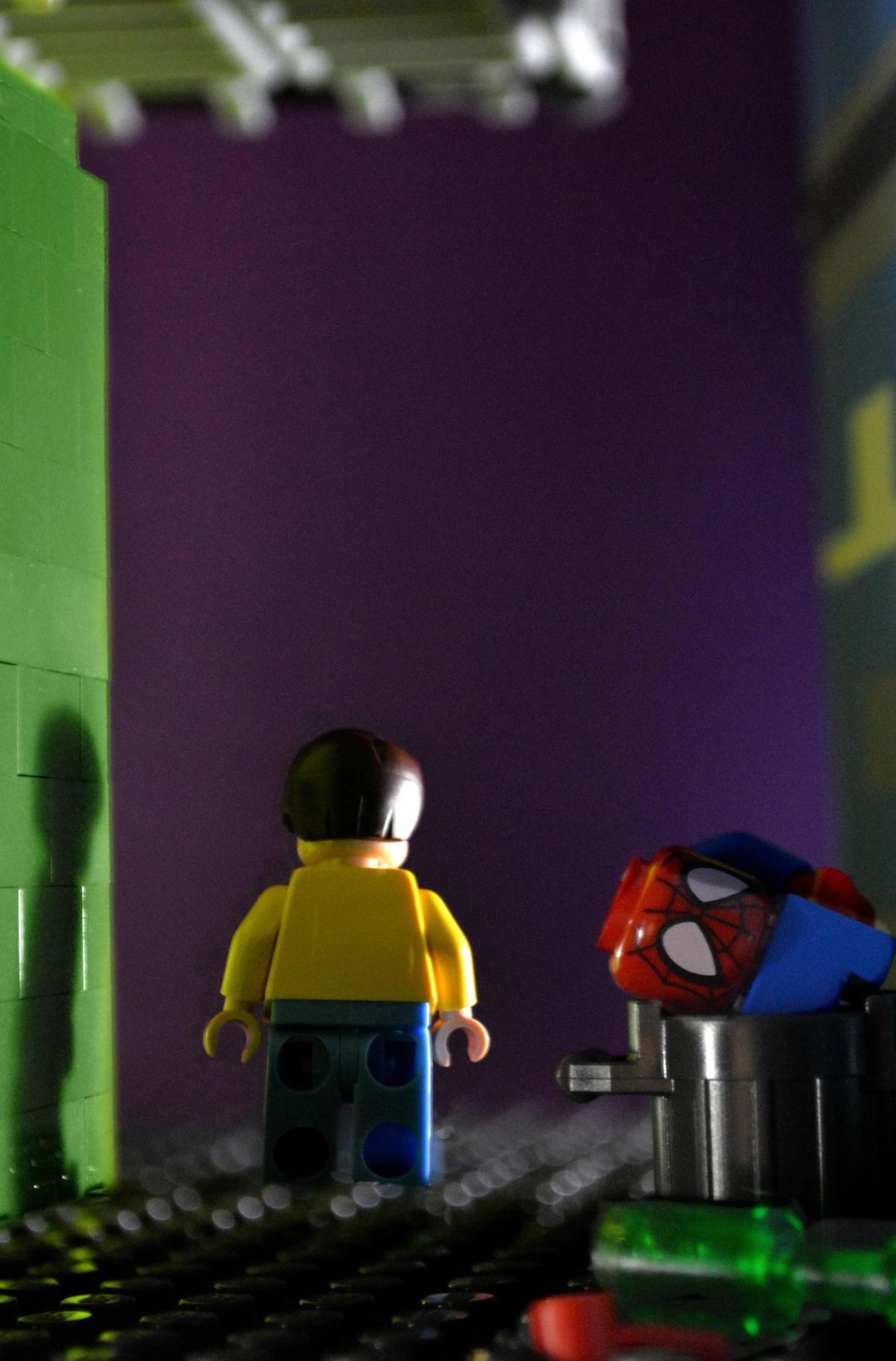 spiderman no more comic lego oldskull