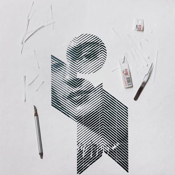 cutr paper art oldskull 9