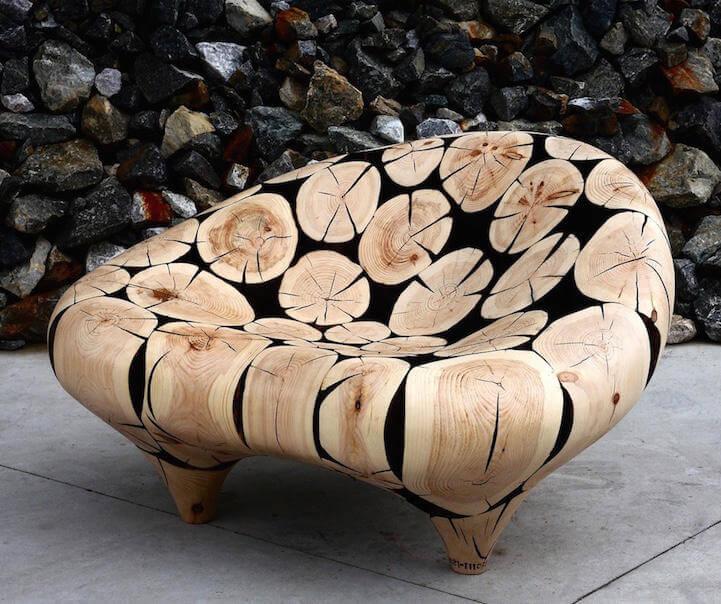 Elegantes esculturas de madera hecha a mano por Jae-Hyo Lee