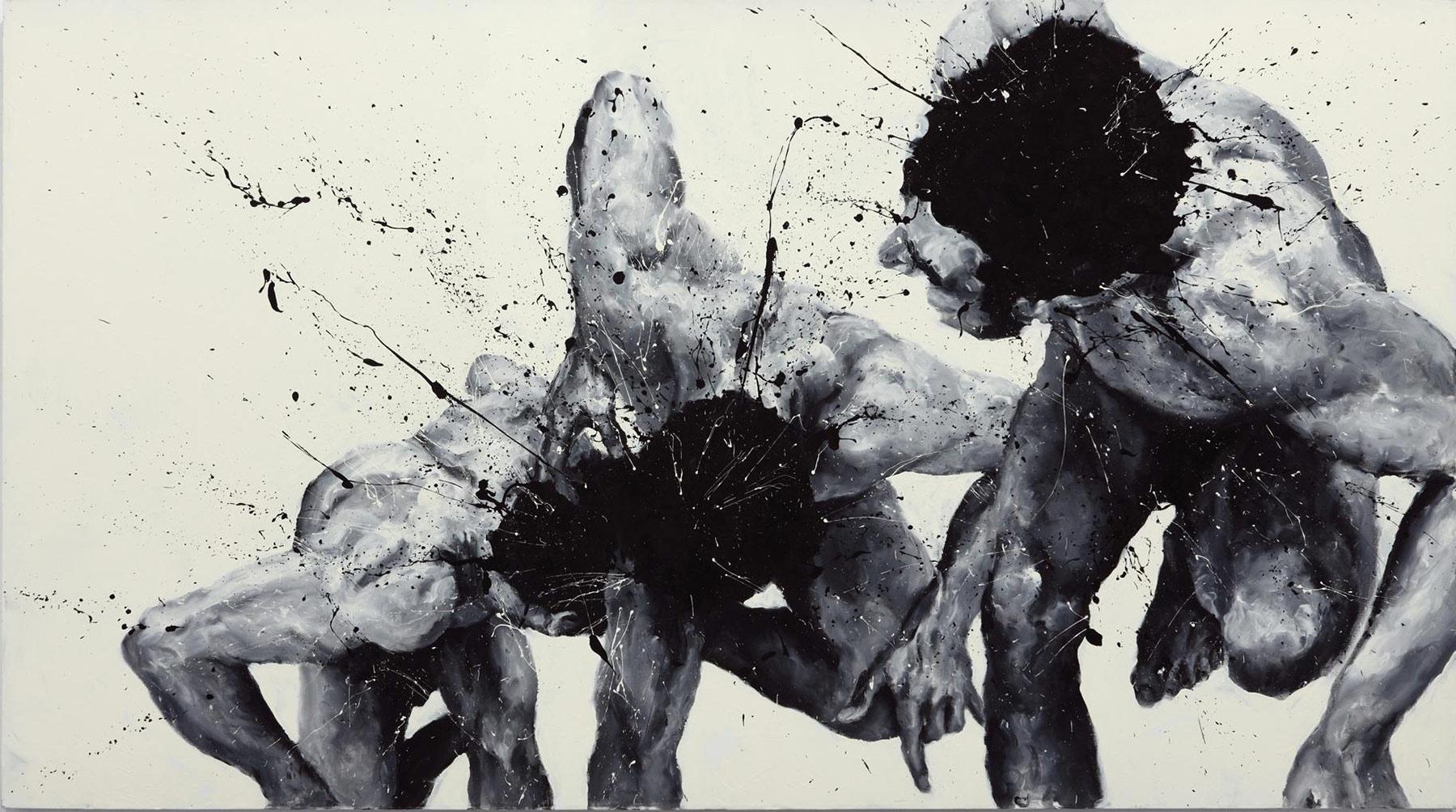 Paolo Troilo pinta el caos con los dedos