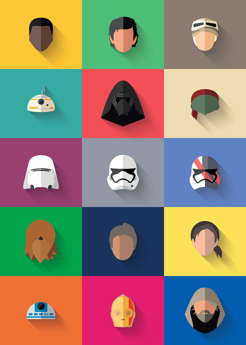 Star-wars-icons-flat-the-force-awakening-all