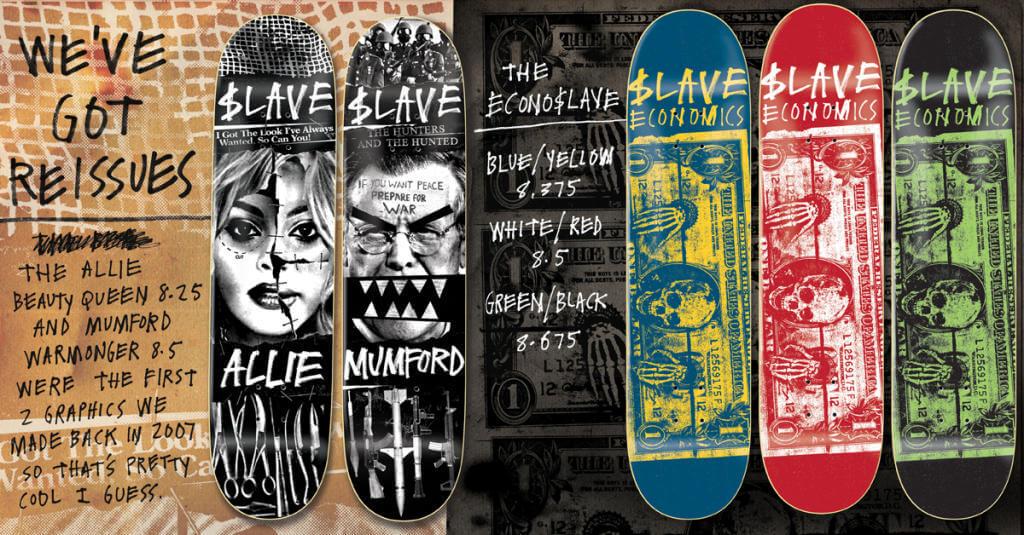 skate decks anti social slave oldskull 1-4