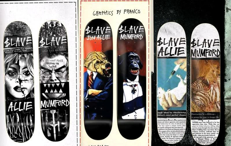skate decks anti social slave oldskull 9