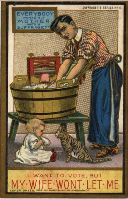 Propaganda Postcards Warn Men about the Dangers of Women's Rights from the Early 20th Century (12)