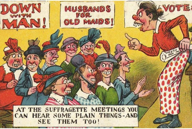 Propaganda Postcards Warn Men about the Dangers of Women's Rights from the Early 20th Century (9)
