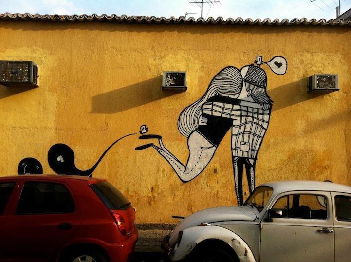 Street art bisous - 01