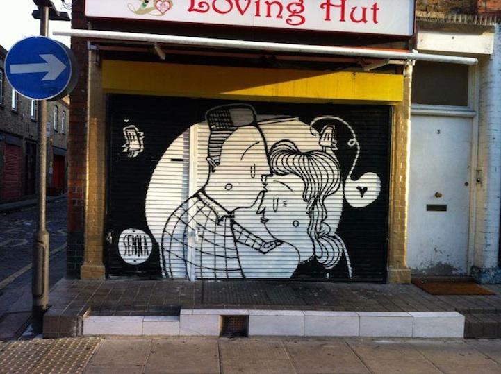 Street art bisous - 03