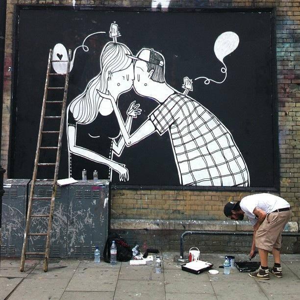 Street art bisous - 05