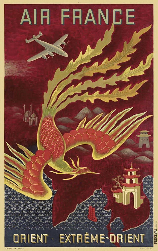 The Golden Age of Air Travel Beautiful Vintage Airline Posters - 01