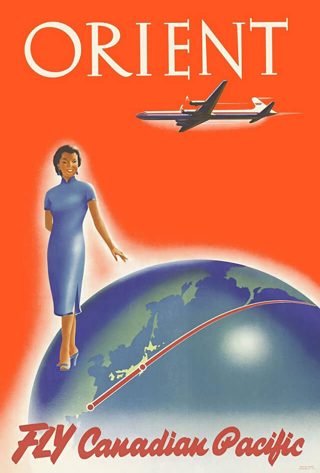 The Golden Age of Air Travel Beautiful Vintage Airline Posters - 07