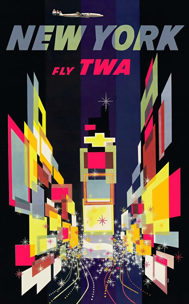 The Golden Age of Air Travel Beautiful Vintage Airline Posters - 08
