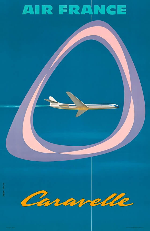 The Golden Age of Air Travel Beautiful Vintage Airline Posters - 14