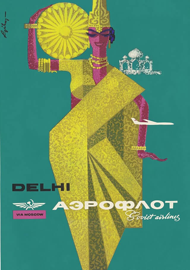 The Golden Age of Air Travel Beautiful Vintage Airline Posters - 17