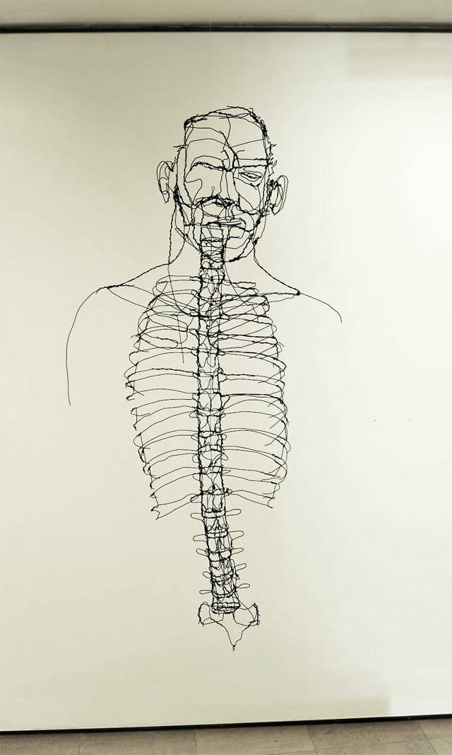 david oliveira sculpture wire oldskull 7