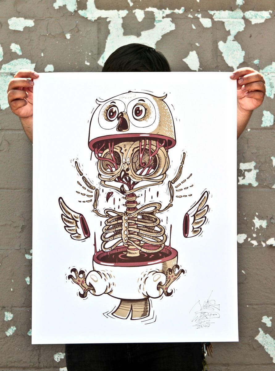 nychos street art illustration 11