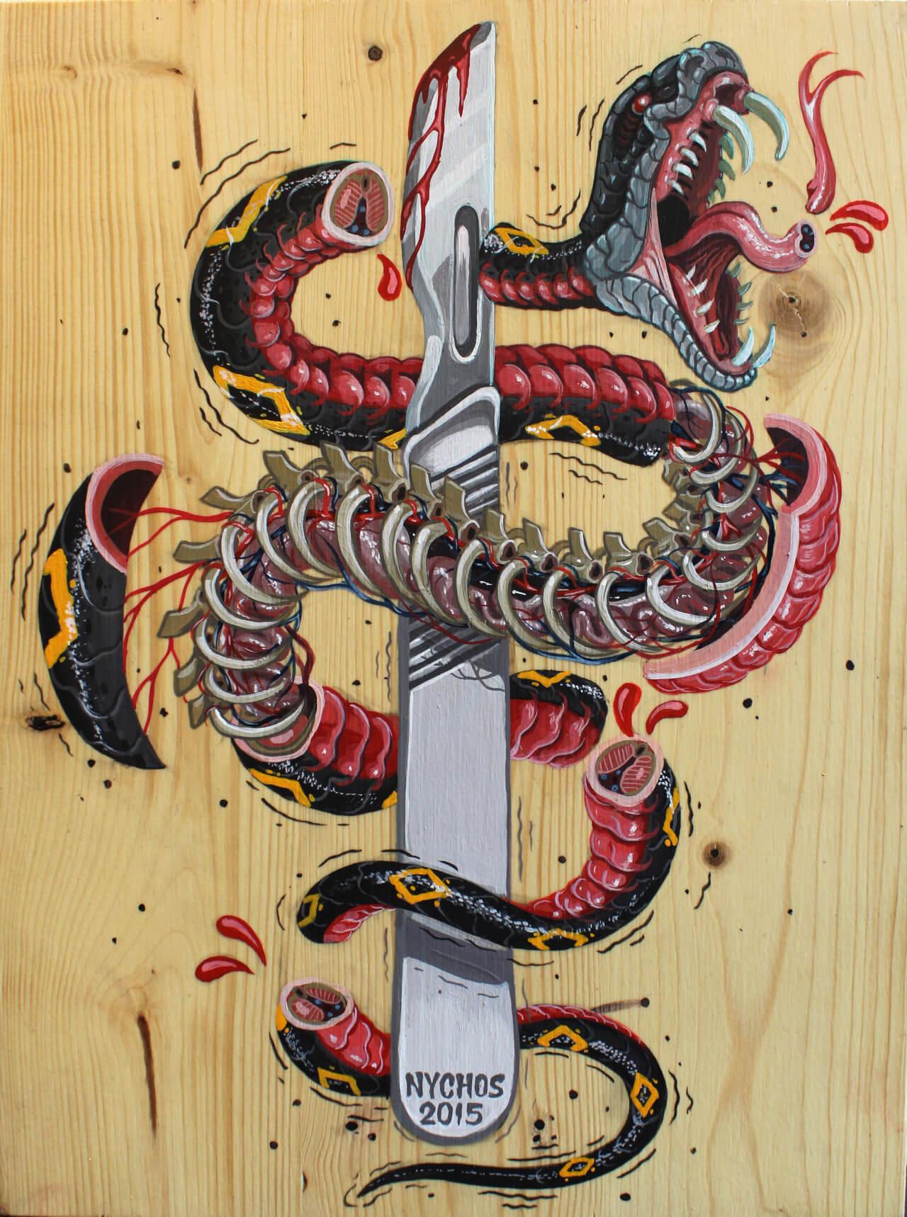 nychos street art illustration 4