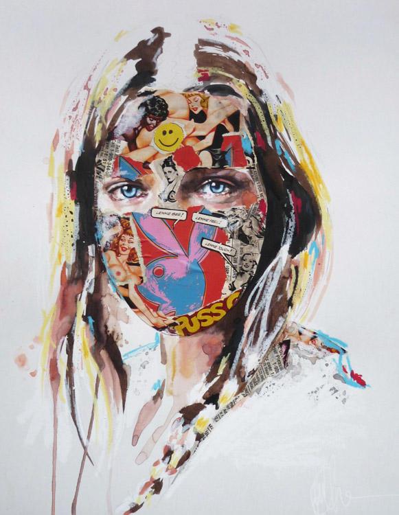sandra chevrier comic painting oldskull 3