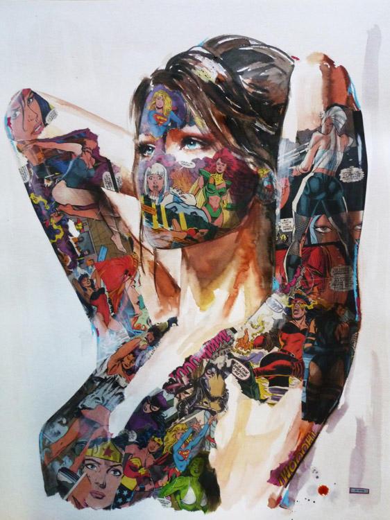 sandra chevrier comic painting oldskull 8