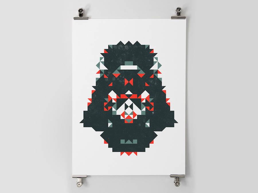 star wars polygon posters 1