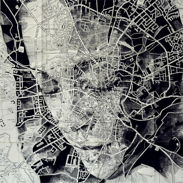 Portraits Drawn on Maps by Ed Fairburn  (3-1)