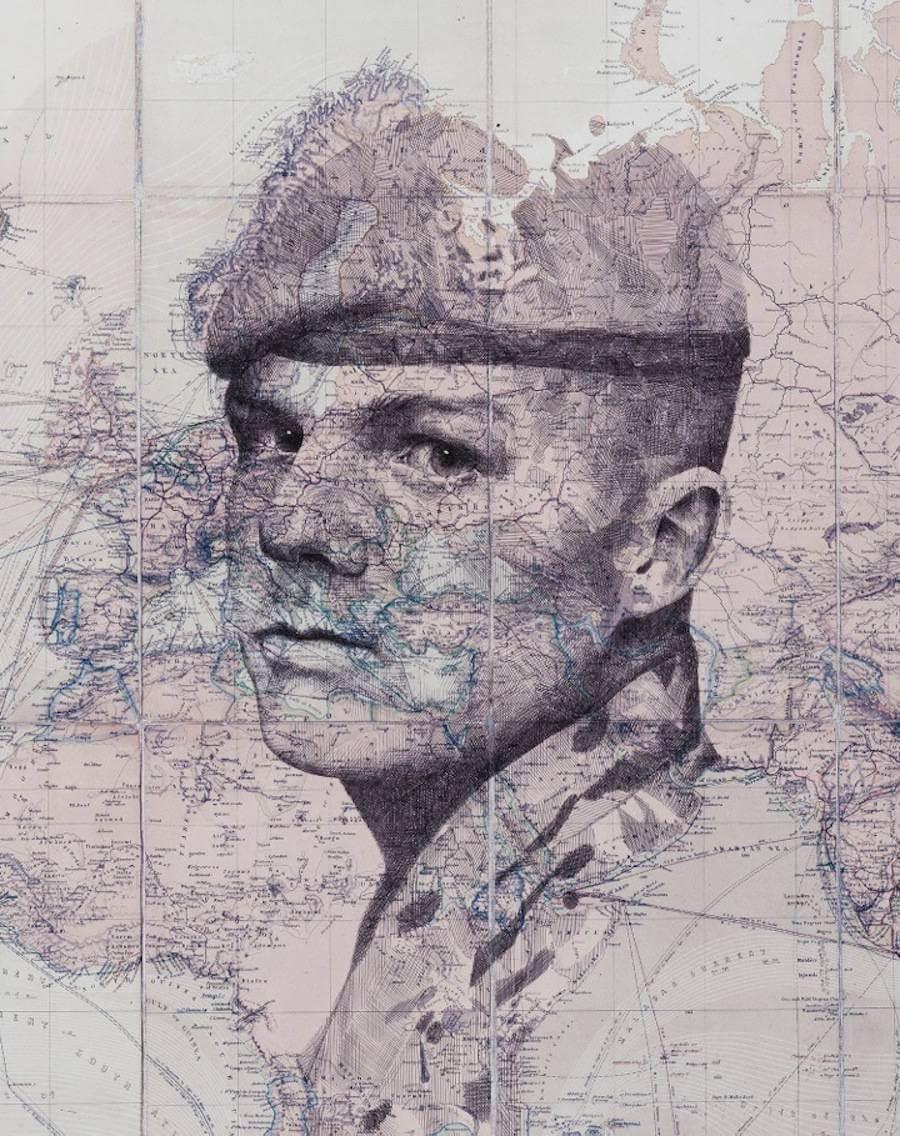 Portraits Drawn on Maps by Ed Fairburn  (4)