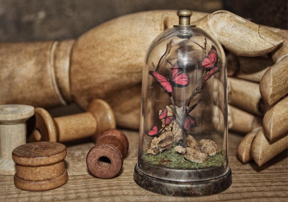 esculturas en miniatura grotescas oldskull 7