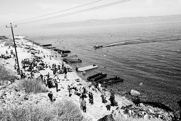 La misma realidad. Refugiados en Lesbos.