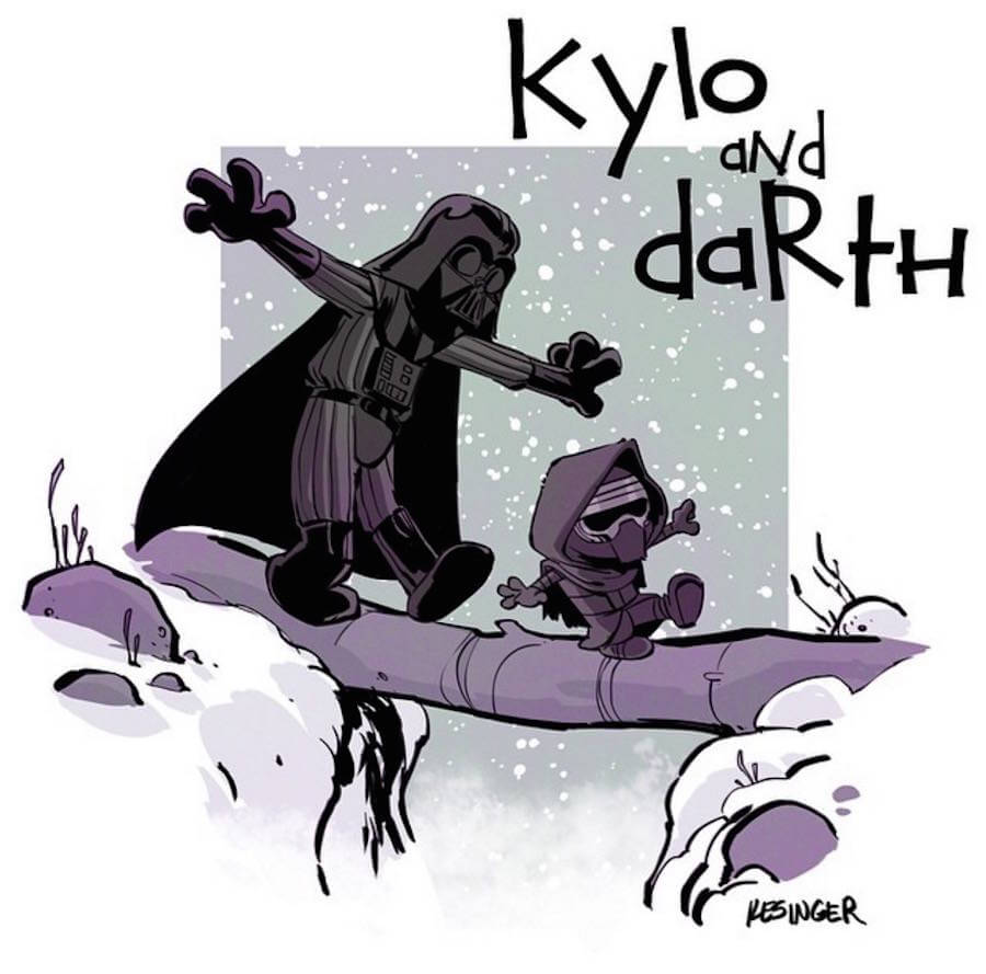 Star Wars Meets Calvin and Hobbes Comics  (3)
