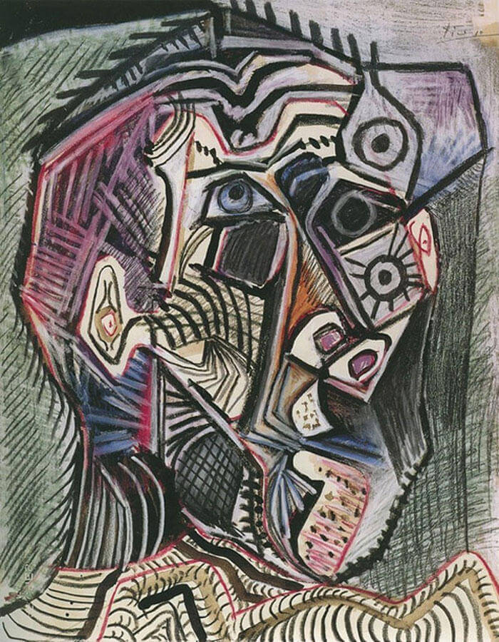 Picasso Self Portrait Evolution From Age 15 To Age 90  (11)