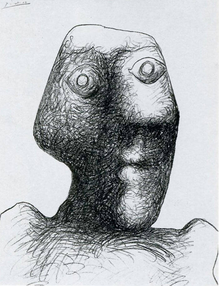 Picasso Self Portrait Evolution From Age 15 To Age 90  (14)