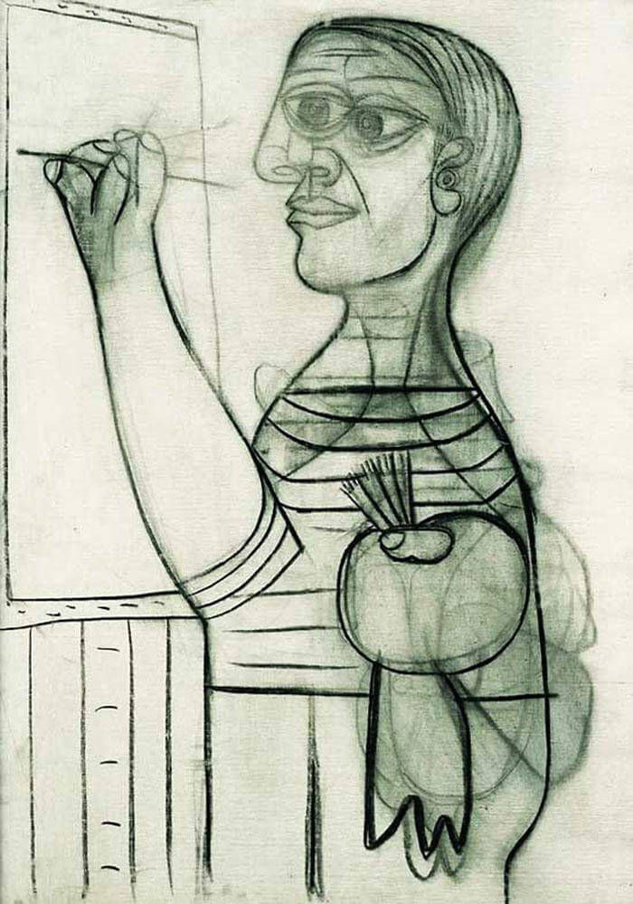 Picasso Self Portrait Evolution From Age 15 To Age 90  (7)