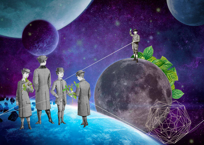 gloria sanchez collage ilustracion 10