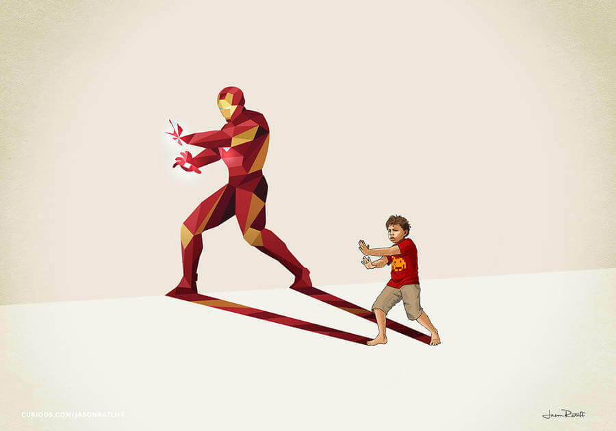New Children's Superheroes Shadows Posters  (9)