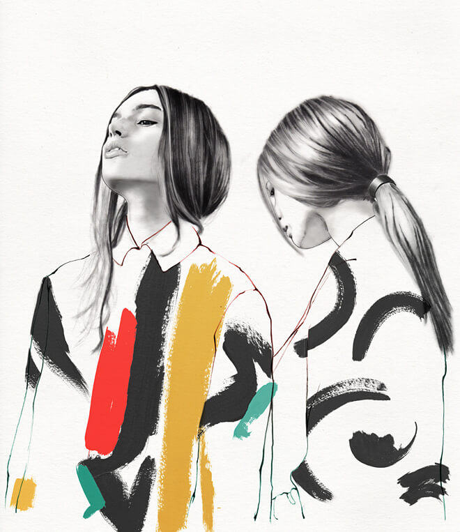 lucie biriant fashion illustraion oldskull 1