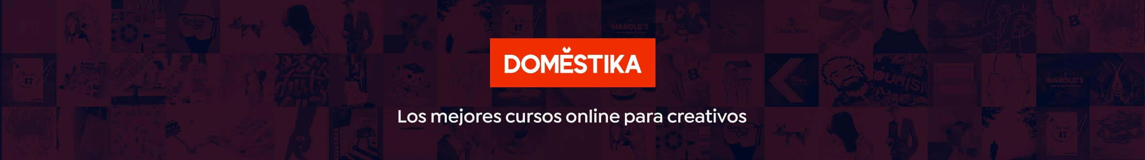 Banner cursos de diseño grágico y cursos de fotografía Domestika