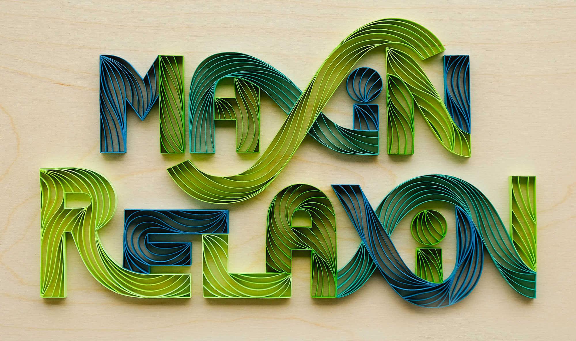 colorida manualidad en papel recreando un efecto 3d