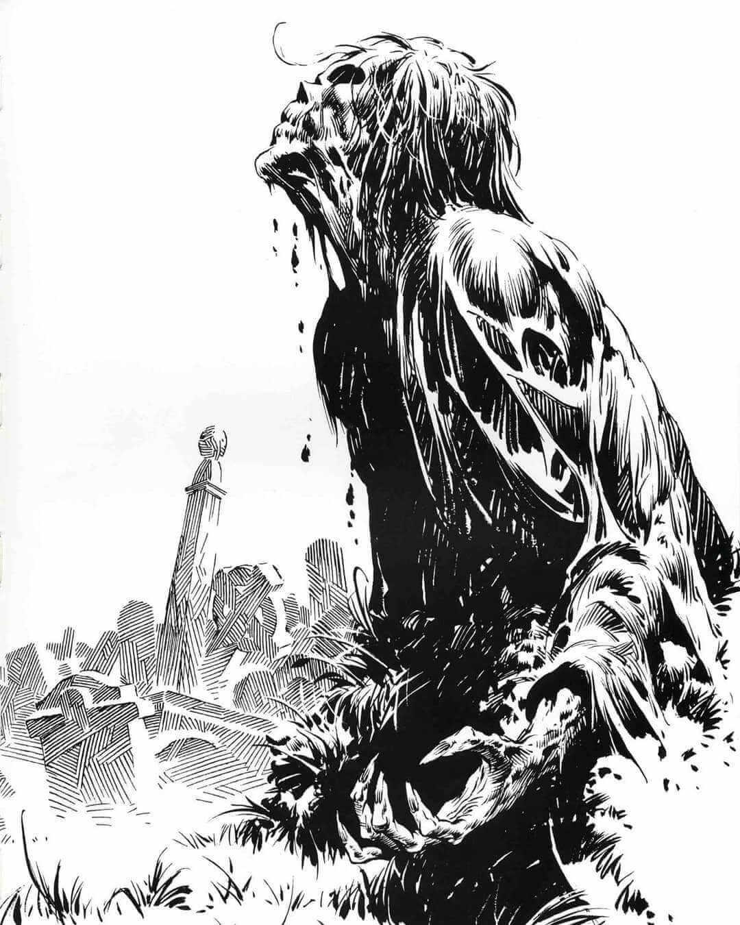 Ilustracion zombie de Bernie Wrightson