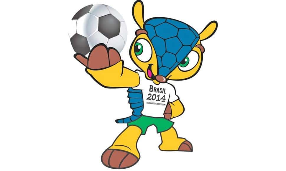 Fuleco. Mascota oficial de la Copa del Mundo de fútbol de Brasil 2014.