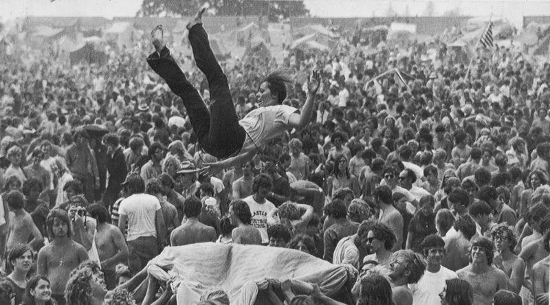 la felicidad. Woodstock
